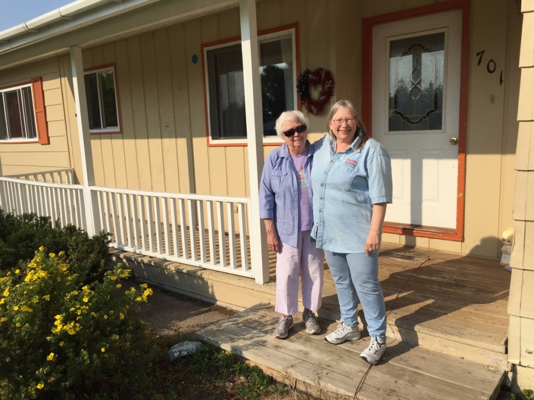 Cheryl with her Mother: New House in Michigan